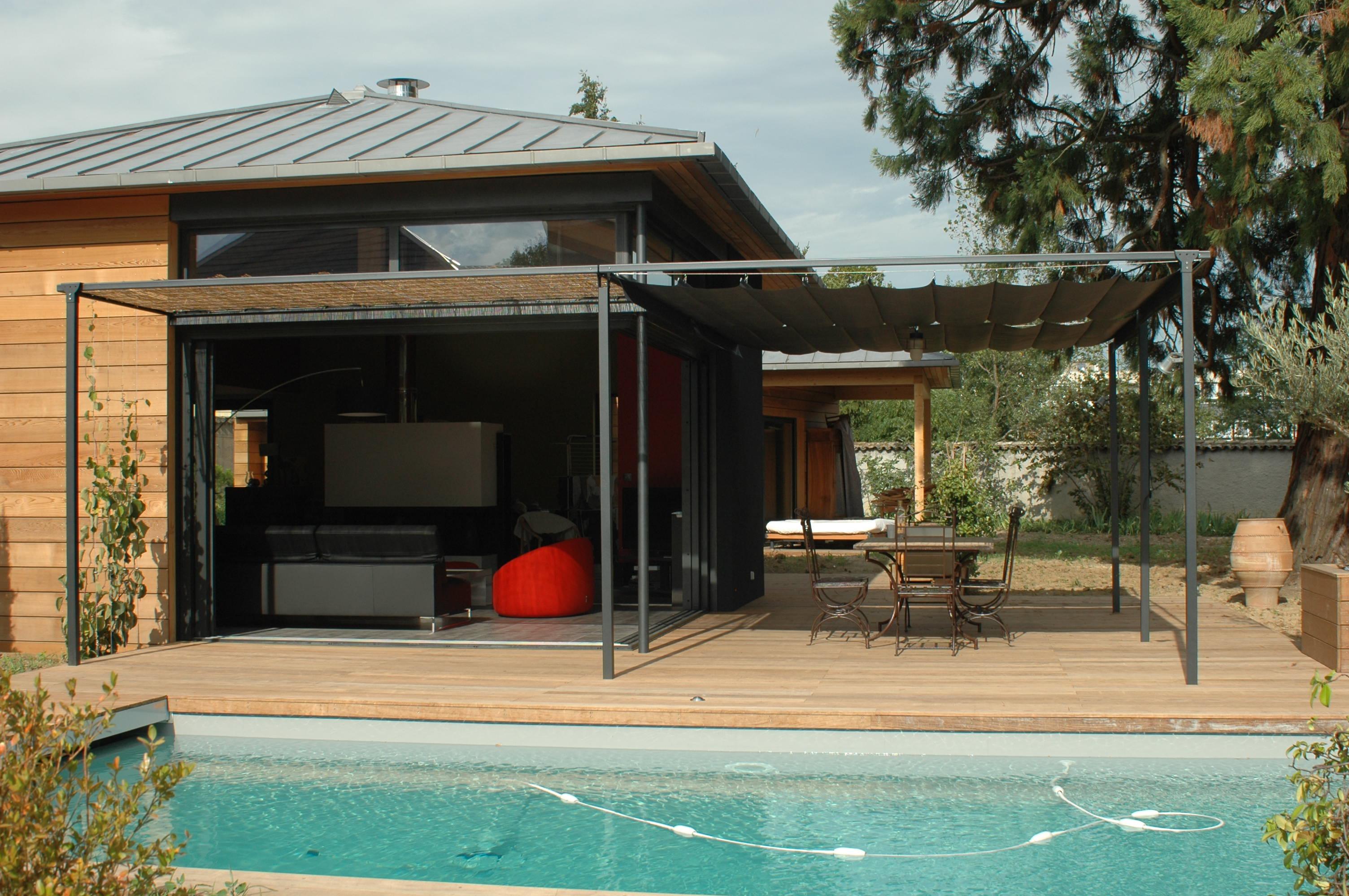 pergola contemporaine bois. Black Bedroom Furniture Sets. Home Design Ideas