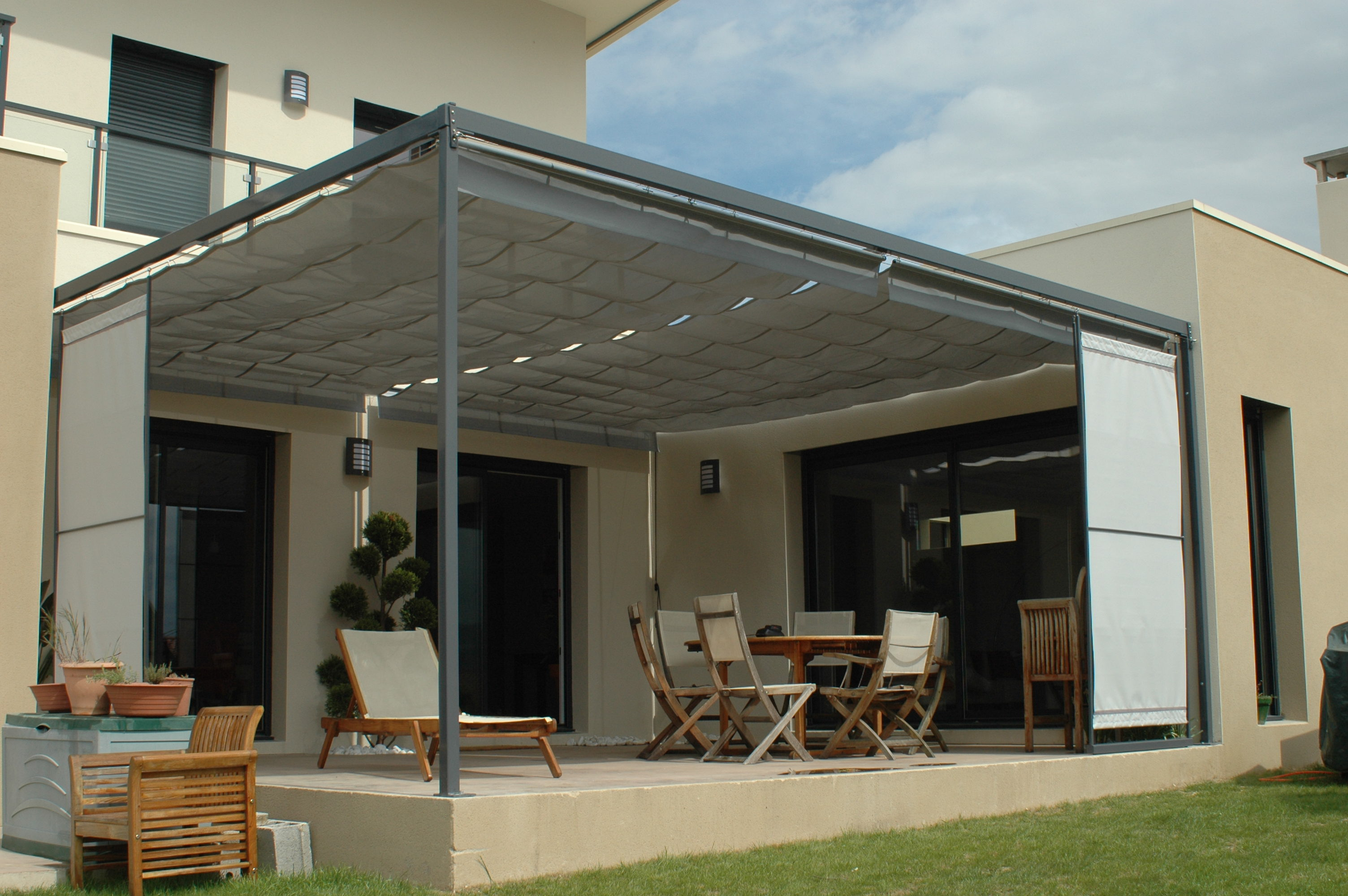 pergola sur mesure 36m. Black Bedroom Furniture Sets. Home Design Ideas