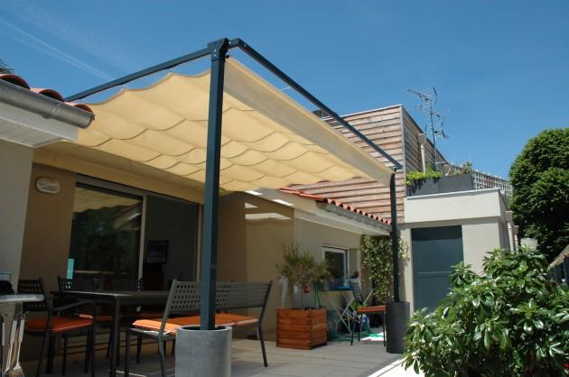 pergola sur mesure et sur attique. Black Bedroom Furniture Sets. Home Design Ideas
