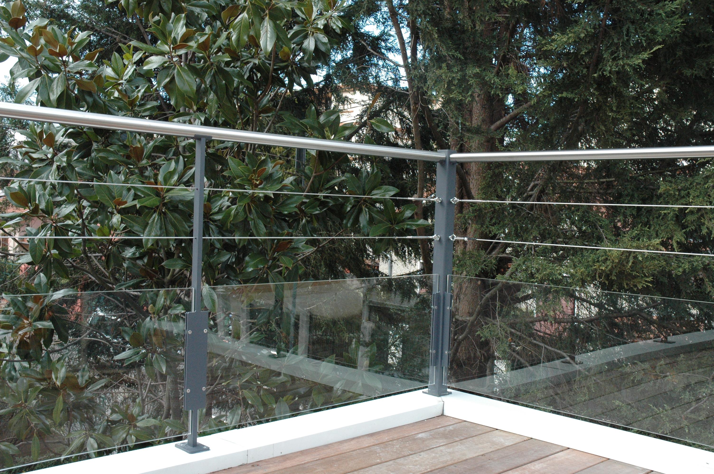 garde corps exonido inox et pmma exonido pergolas sur mesure am nagement de terrasse. Black Bedroom Furniture Sets. Home Design Ideas