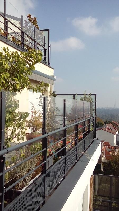 panneaux coupe vent terrasse transparents sur mesure. Black Bedroom Furniture Sets. Home Design Ideas