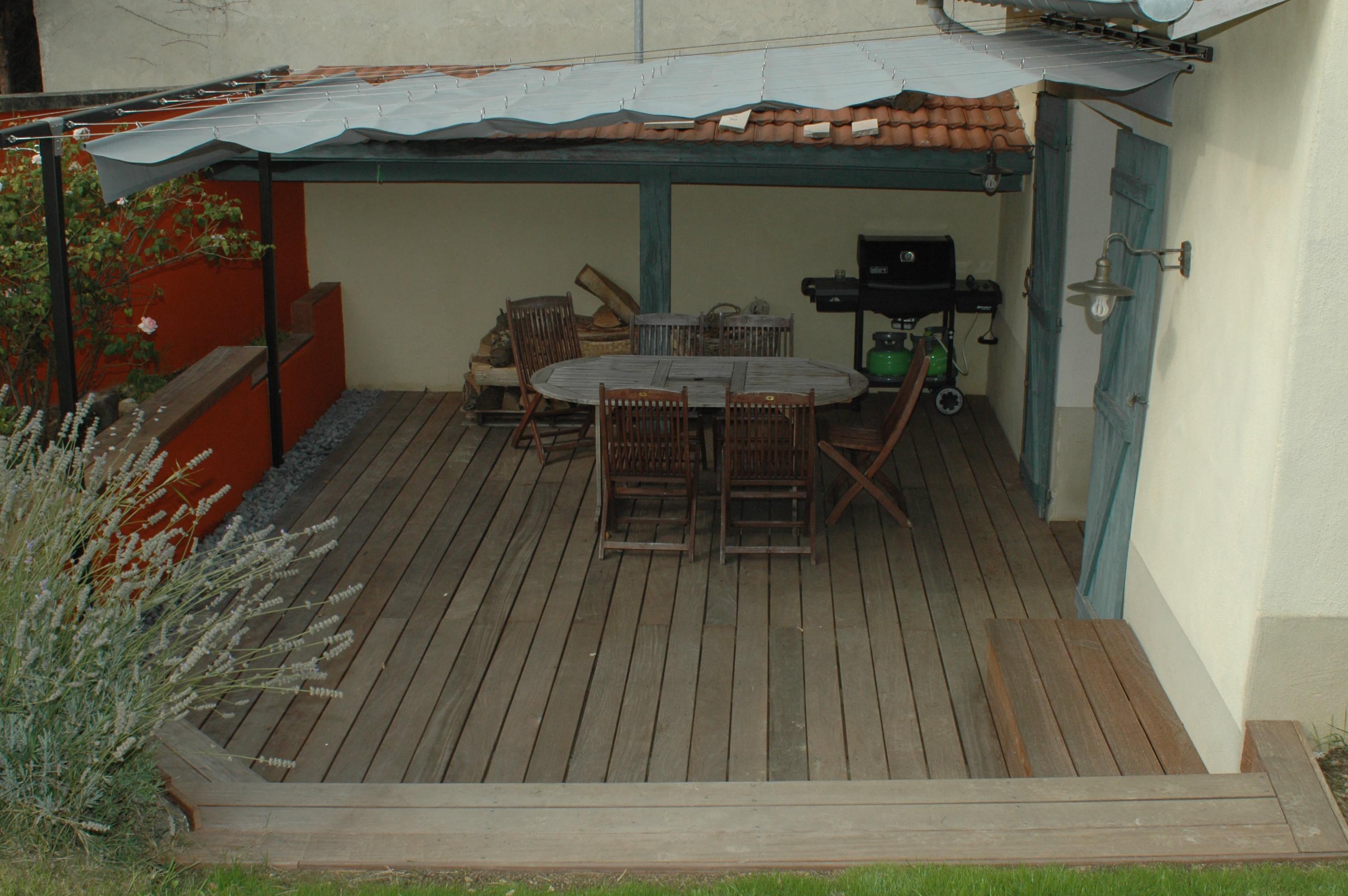 Aménagement de terrasse région Lyon réalisé par Exonido