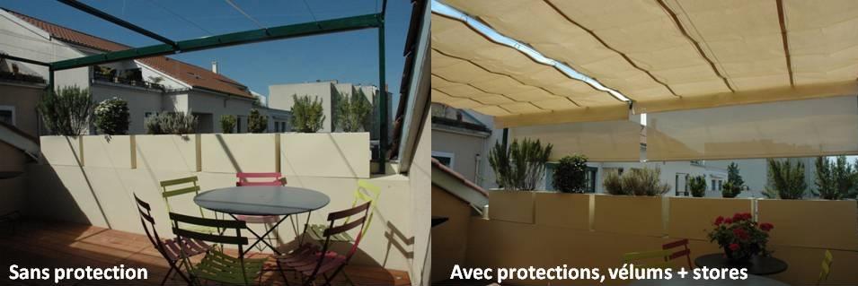 Brise vue sur mesure - Protege soleil terrasse ...