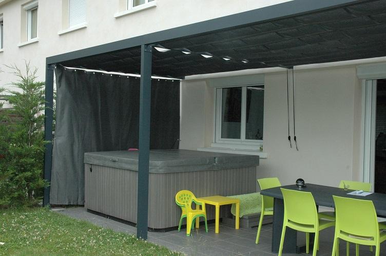 Brise vue sur mesure for Rideaux exterieurs terrasse