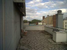 Avant l'aménagement de terrasse