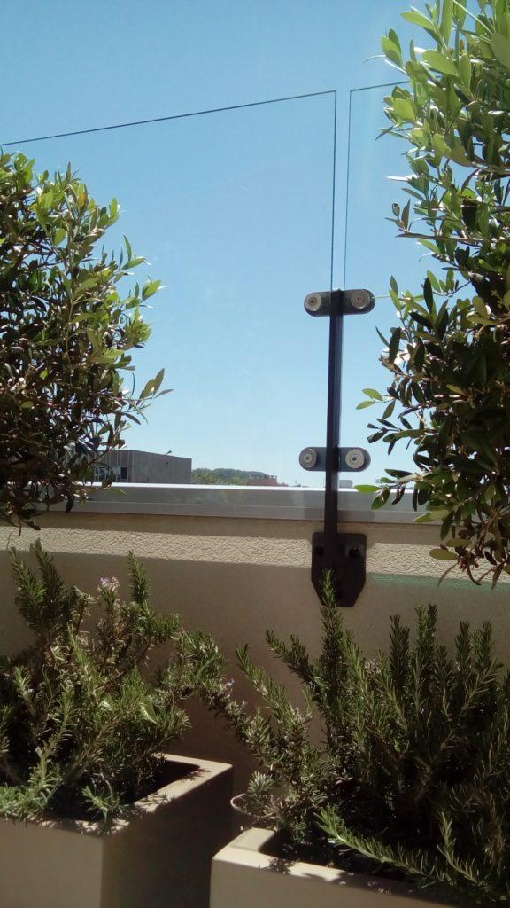 Nouveau brise-vent en verre signé Exonido