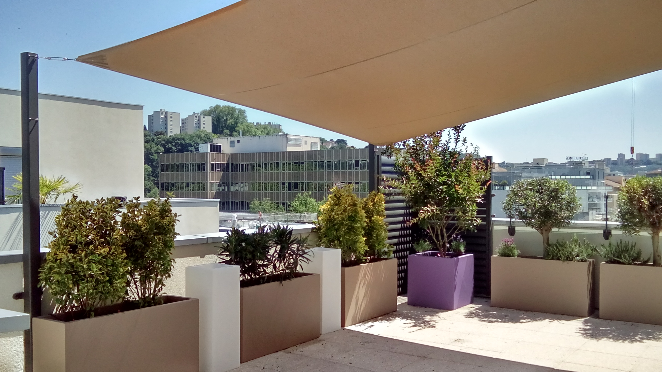 Am nagement de terrasse d 39 immeuble lyon - Amenagement de terrasse photos ...