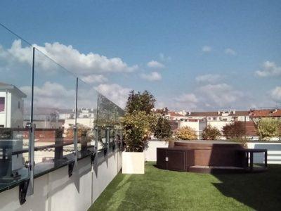 Coupe vent terrasse transparent-Exonido-Lyon7