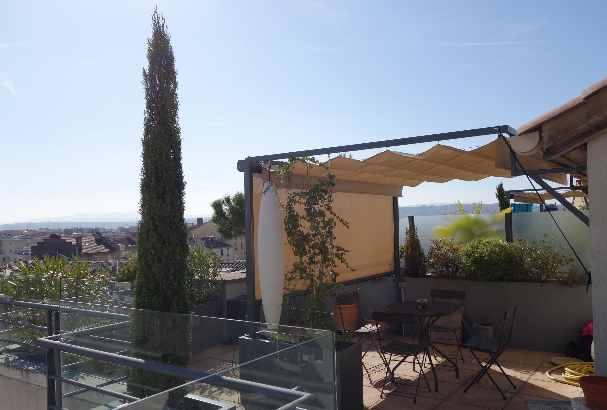pergola terrasse et brise vue transparent